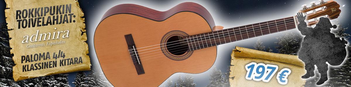 Rokkipukin toivelahja: Admira Paloma klassinen kitara - 197 euroa