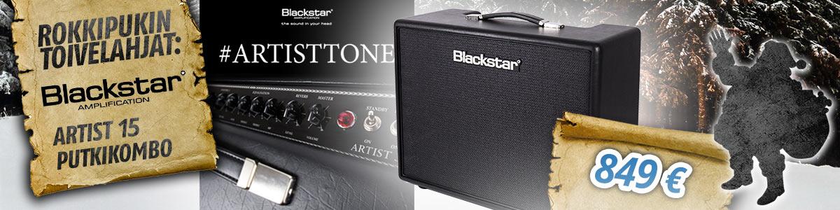 Rokkipukin toivelahja: Blackstar Artist 15 täysputkikombo kitaristille - 849 euroa