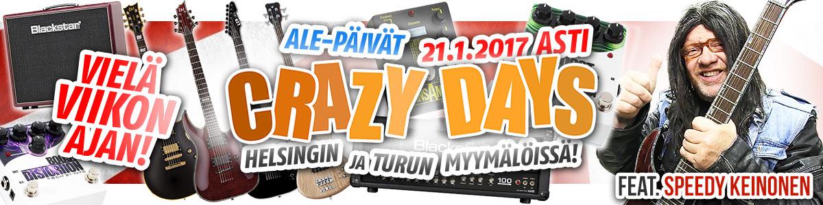 Crazy Days ale myymälöissä 21.1.2017 asti!