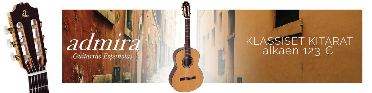 Admira klassiset kitarat Espanjasta
