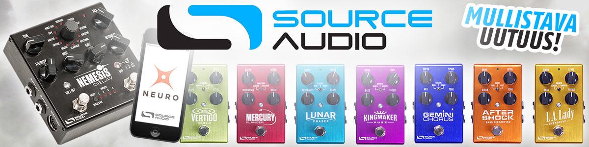 Source Audio efektipedaalit ja ekspressio-tuotteet