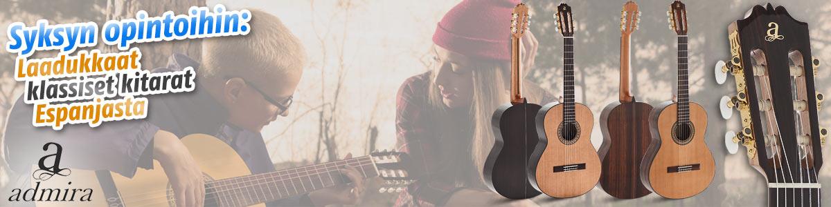 Syksyn opintoihin laadukkaat Admira akustiset kitarat