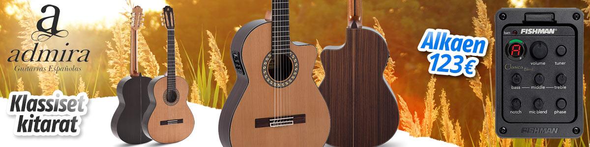 Syksyn opintoihin: Laadukkaat Admira akustiset kitarat