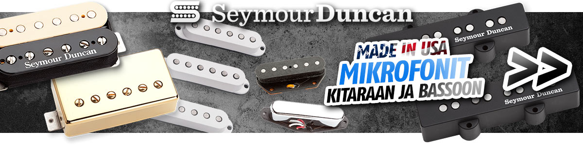 Seymour Duncan Made in USA mikrofonit kitaraan ja bassoon
