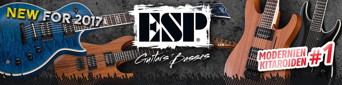 ESP Guitars & Basses - Uutta 2017