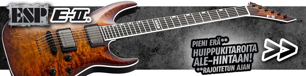 ESP E-II Series - Pieni erä huippulaadukkaita kitaroita ale-hintaan! Toimi nopeasti.