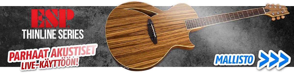 ESP Thinline Series - Parhaat akustiset kitarat live-käyttöön!