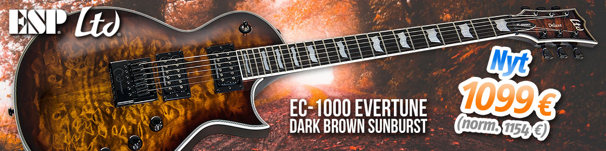 ESP LTD EC-1000 Evertune Dark Brown Sunburst - Nyt 1099 (norm. 1154)