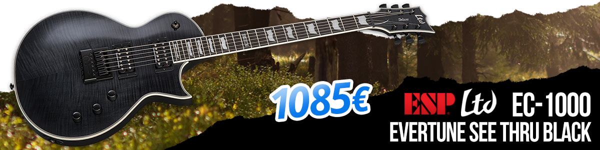 ESP Ltd EC-1000 Evertune See Thru Black - 1085 eur
