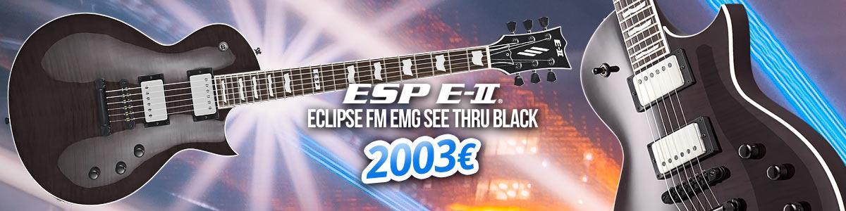 ESP E-II Eclipse FM EMG See Thru Black - 2003 €