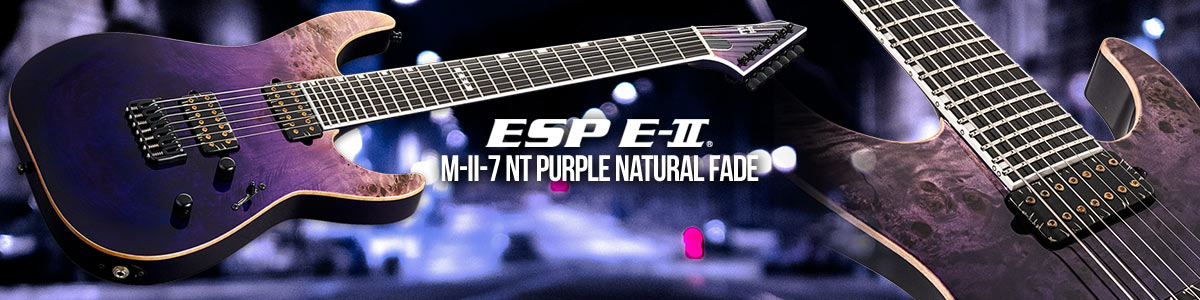 ESP E-II M-II-7 NT Purple Natural Fade