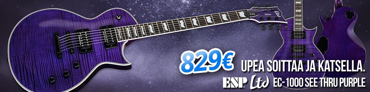 Upea soittaa ja katsella: ESP LTD EC-1000 See Thru Purple - 829€