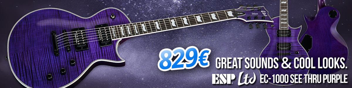 Great Playability, Cool Looks: ESP LTD EC-1000 See Thru Purple - 829€