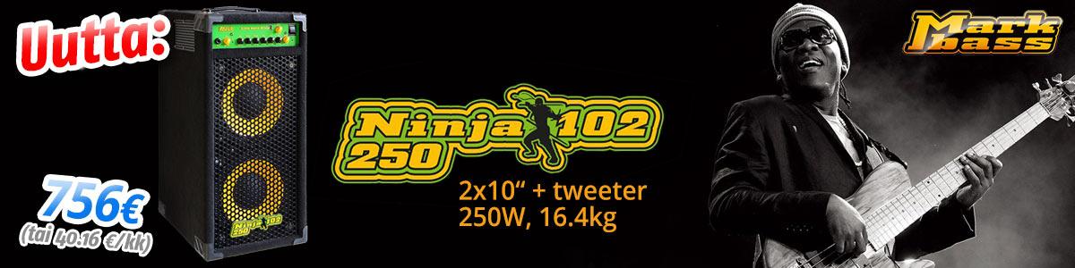 Uutta: Markbass Ninja 102 250 kombo - 756€