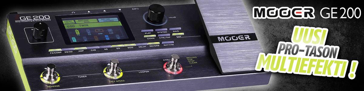 Mooer GE200 - Uusi pro-tason multiefekti!
