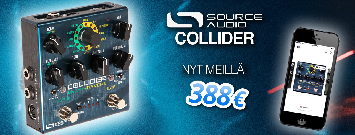 Source Audio Collider Delay + Reverb - Nyt meillä!