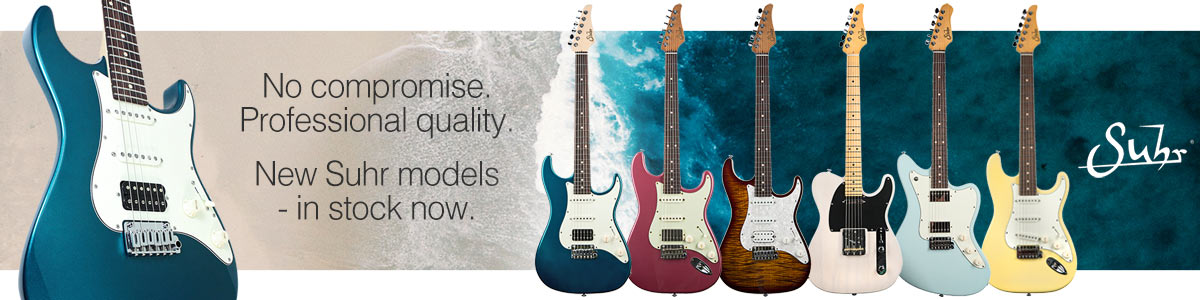 No compromise. Professional quality. New Suhr models - in stock now.