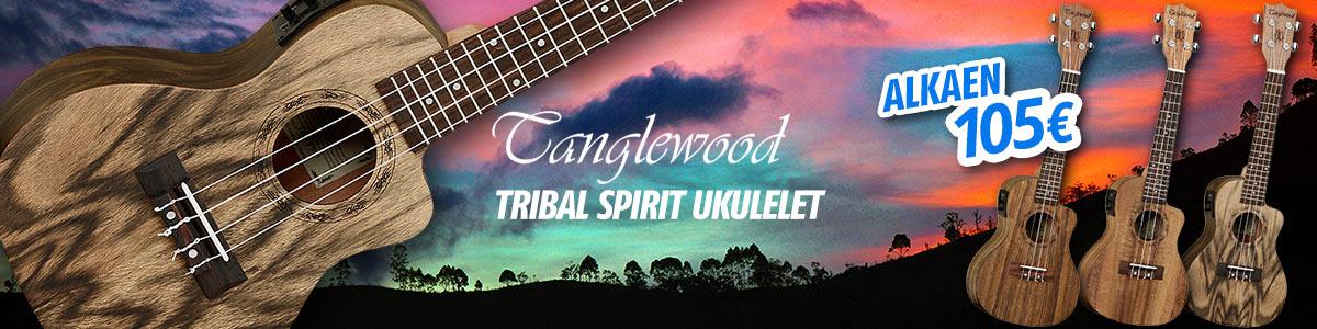 Tanglewood Tribal Series ukulelet - Alkaen 105€