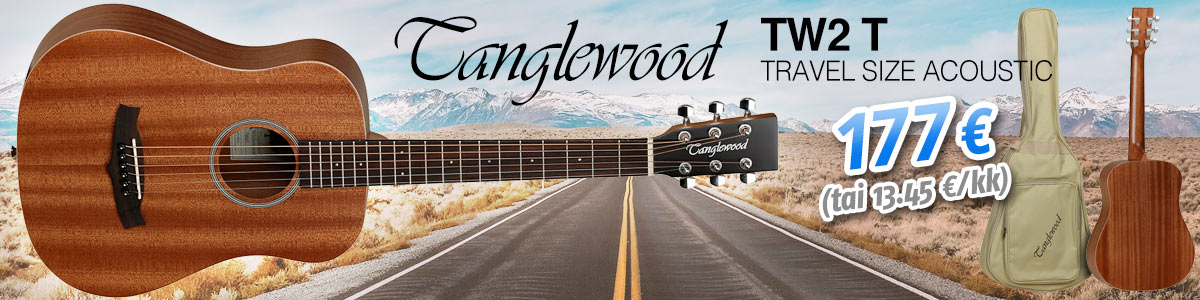 Tanglewood TW2 T - Travel Size Acoustic - 177 € (tai alkaen 13.45 €/kk)