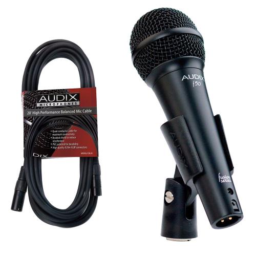 Audix F50 solistimikrofoni + CBL-20 johto