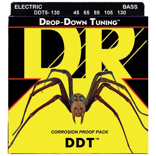 DR Strings Drop-Down Tuning DDT5-130 (45-130) 5-kielisen sähköbasson kielisetti