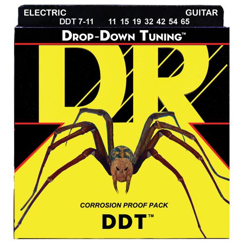 DR Strings Drop-Down Tuning DDT7-11-65 7-String Electric Guitar String Set