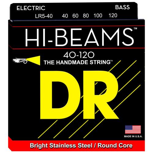 DR Strings Hi-Beam LR5-40 (40-120) 5-String Electric Bass String Set