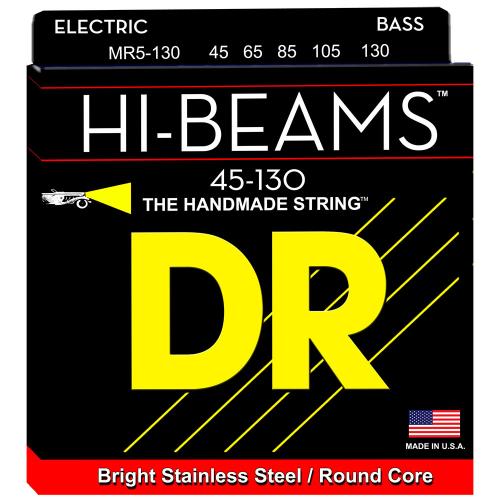 DR Strings Hi-Beam MR5-130 (45-130) 5-String Electric Bass String Set
