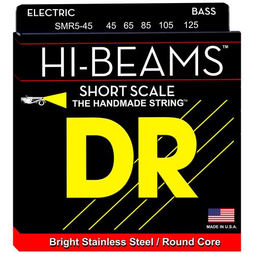 DR Strings Hi-Beam SMR5-45 (45-125) Short Scale 5-String Electric Bass String Set