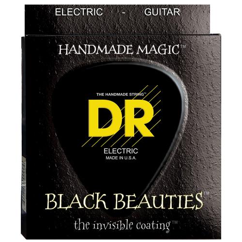 DR Strings K3 Black Beauties BKE7-11 (11-60) 7-String Electric Guitar String Set
