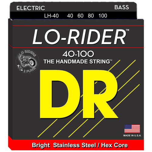 DR Strings Lo-Rider LH-40 (40-100) Electric Bass String Set