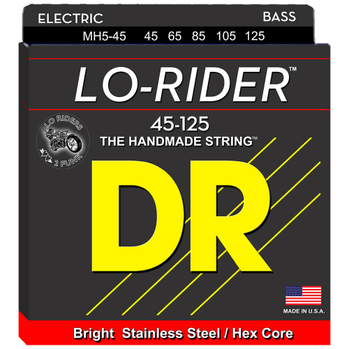 DR Strings Lo-Rider MH5-45 (45-125) 5-String Electric Bass String Set