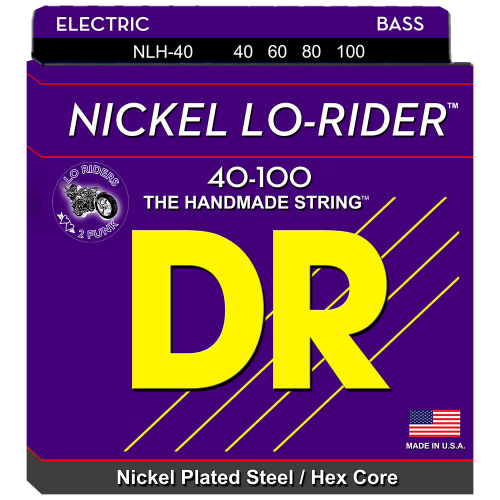DR Strings Nickel Lo-Rider NLH-40 (40-100) Electric Bass String Set