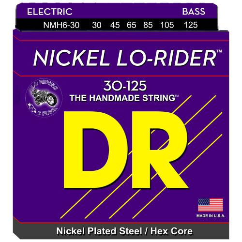 DR Strings Nickel Lo-Rider NMH6-30 30-125 6-kielisen sähköbasson kielisetti