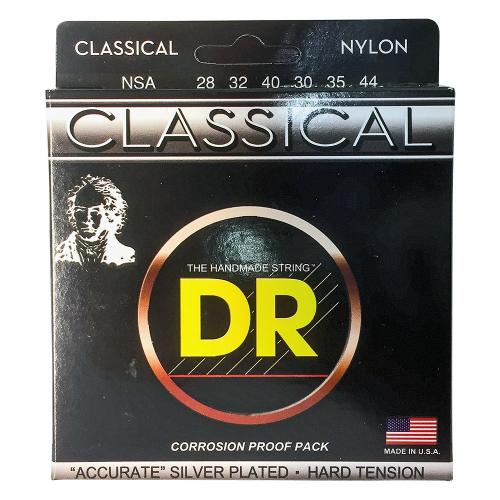 DR Strings Nylon Classical NSA (28-44) klassisen kitaran kielisetti
