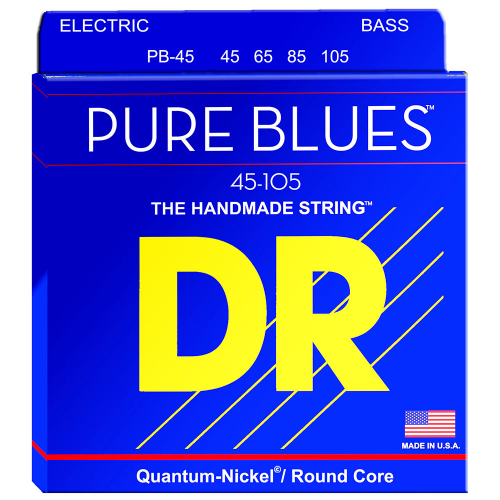DR Strings Pure Blues PB-45 (45-105) Electric Bass String Set