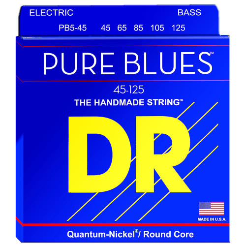 DR Strings Pure Blues PB5-45 (45-125) 5-String Electric Bass String Set