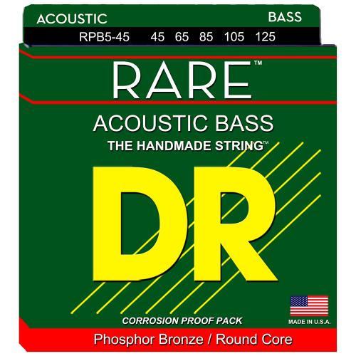 DR Strings Rare RPB5-45 (45-125) 5-kielisen akustisen basson kielisetti