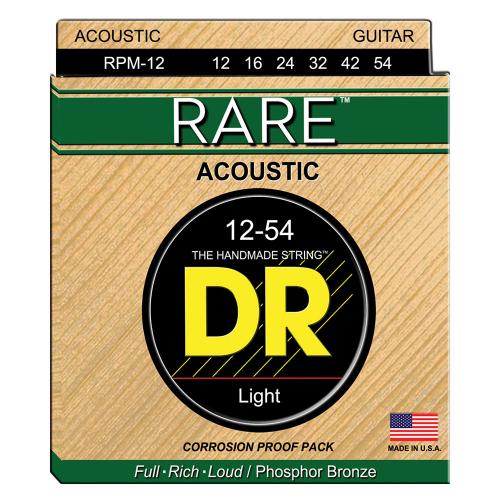 DR Strings Rare RPM-12 (12-54) Acoustic Guitar String Set