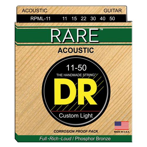 DR Strings Rare RPML-11 (11-50) Acoustic Guitar String Set