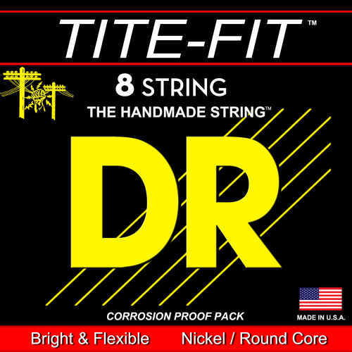 DR Strings Tite-Fit TF8-11 (11-80) 8-String Electric Guitar Set