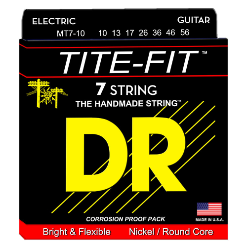DR Strings Tite-Fit MT7-10 (10-56) 7-String Electric Guitar Set