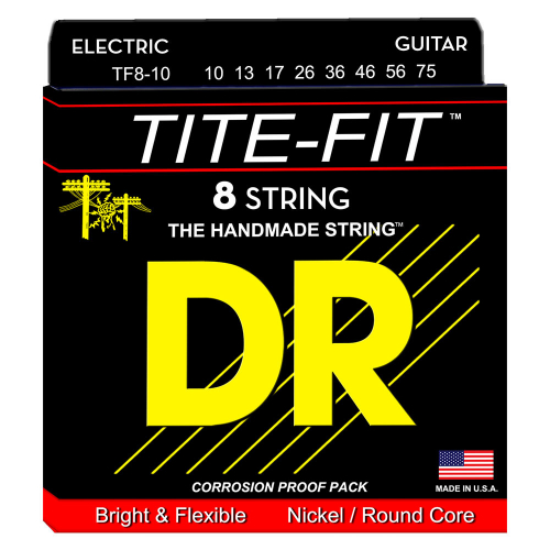 DR Strings Tite-Fit TF8-10 (10-75) 8-String Electric Guitar Set