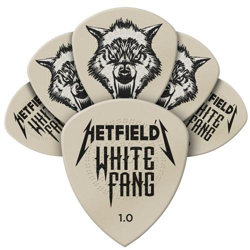 Dunlop James Hetfield White Fang 1.00mm Plektra 6-Pack