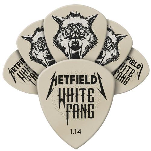 Dunlop James Hetfield White Fang 1.14mm Plektra 6-Pack