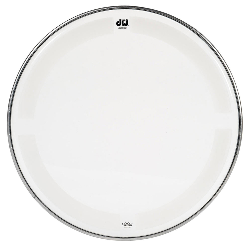 DW HCC24K 24 Bass Drum Coated Clear Rumpukalvo