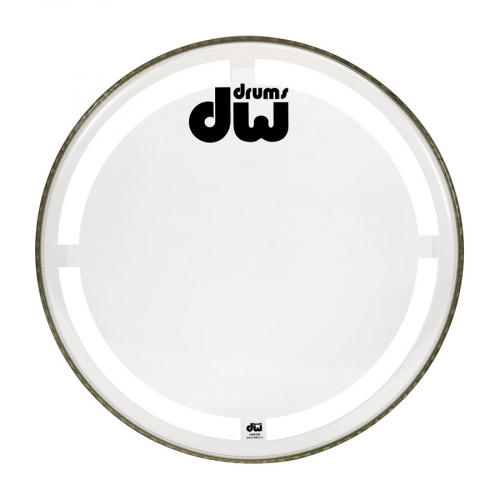 DW HCW16K 16 Bass Drum Coated White Rumpukalvo
