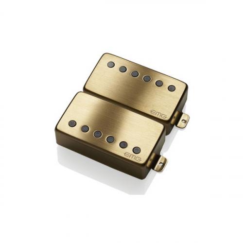 EMG 57/66 Set Brushed Gold Electric Guitar Pickups