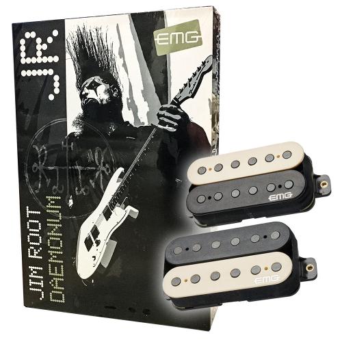 EMG JR Daemonum Set F-Spaced Zebra Guitar Pickups