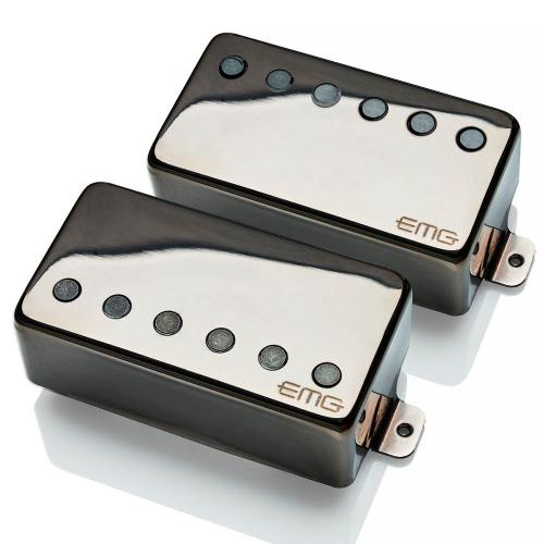 EMG 57/66 F-Spaced Set Black Chrome Electric Guitar Pickups